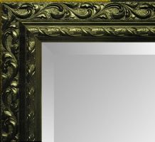 Large BLACK Decorative Mirror